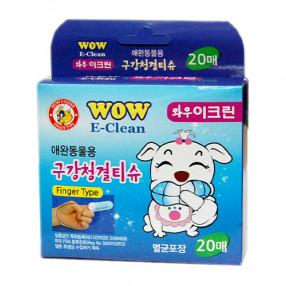 와우 이크린 구강청결티슈(20매)
